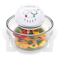 Convection Infrared Halogen Oven 17.9 Qt Glass Multifunction Energy Saving Cook