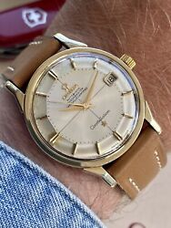 Omega Constellation Pie Pan Automatic 18k Gold Steel Mens Vintage 1962 Watch