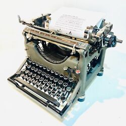Underwood Model 5 Typewriter 1930 Beautiful Clean And Working With New Ribbon