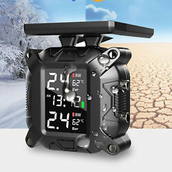 Tpms Solar Tire Pressure Monitoring System 1100 Mah Ipx67 For Motorcycle