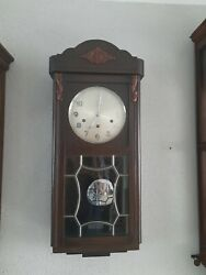 Junghans Antique German Westminster Chime Wall Clock 0395