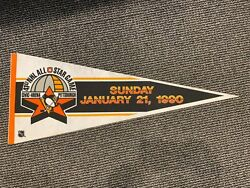 41st Nhl All Star Game Vintage Pennant Civic Arena Pittsburgh Penguins 1990