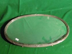 Antique Mirror Plateaux French Silver Plated 1850 Rare Original Mirror