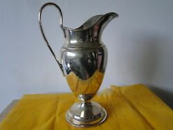 Beer/ Water Jug Sterling Silver London 1907 Barnardand039s Good Size Great Quality