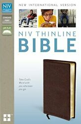 Niv, Thinline Bible, Bonded Leather, Burgundy, Red Letter By Zondervan