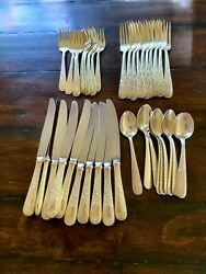 Old Maryland Engraved By Kirk Sterling Silver Flatware Set For 10 + 7 Extras