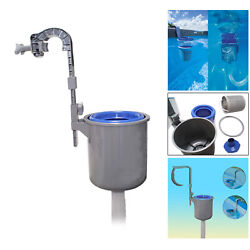 Pool Wall-mounted Surface Skimmer Automatic Clean Basket Floating Leaves Debris