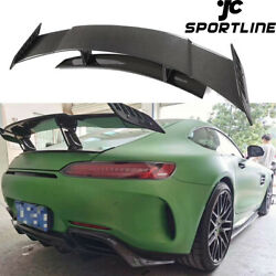 Fits Benz Amg Gt Coupe 15-18 Rear Trunk Spoiler Lid Wing High Tail Carbon Fiber