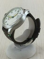 Terra Cielo Mare Automatic Men's Watch Analog White Dial Brown Leather Belt
