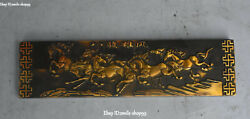 Marked China Bronze Andldquo八骏雄风andrdquo Eight Horse Calligraphy Tool Paperweight Town Ruler