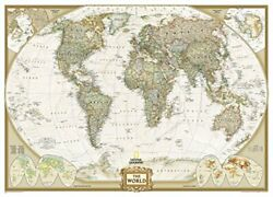 National Geographic World Executive Mural Wall Map By National Geographic Maps
