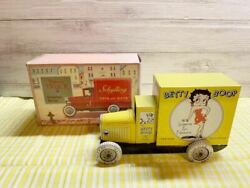Betty Boop Tinplate Delivery Truck With Box 1990 Made By Schylling Vintage