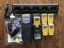 Bw Gas Detector Lot 5 Units Microclip Xt Microdock Ii Bank Charger