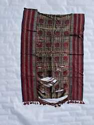 Antique Middle Eastern Silk Woven Calligraphy Textile