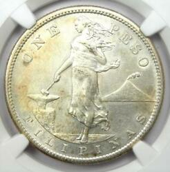1910-s Philippines Peso 1p Coin - Certified Ngc Uncirculated Details Unc Ms