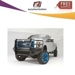 Fab Fours Black Steel Full Guard Bumpers For 08-10 Ford F-250/350/450/550 Sd