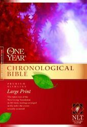 One Year Chronological Bible Nlt, Premium Slimline Large By Tyndale - Hardcover