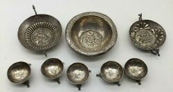European Spanish Colonial Silver Bowl Cup Set 17th C. Marked Welsch Plata .900