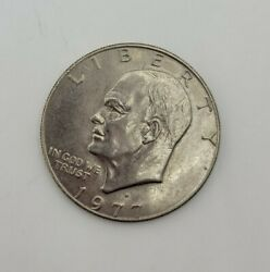 Us Liberty Eisenhower One Dollar Coin 1977 Heavy Antique Vintage Coins 1