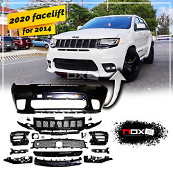 For Jeep Grand Cherokee Srt 14-21 Front Body Kit Facelift Conversion Bumper