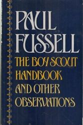 Boy Scout Handbook And Other Observations By Paul Fussell Mint Condition
