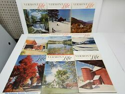Vermont Life Magazines Lot Of 9 Vintage 1950's Travel New England Fall Pictures