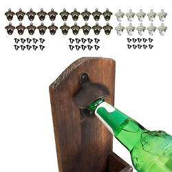 10x Wall Mounted Bottle Opener Bar Accessories Beer  Opener For Home Bar