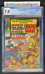Tales Of Suspense 94 Cgc 7.0 Ow/white Pgs First Appearance Of Modok Rare Key