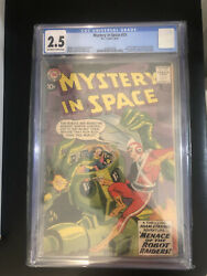 Dc Comics Mystery In Space 53 Cgc 2.5 First Adam Strange In Ongoing Title