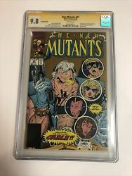New Mutants 1990 87 Cgc Ss 9..8 Wp 1st App Cable Signed Stan Lee | Gold