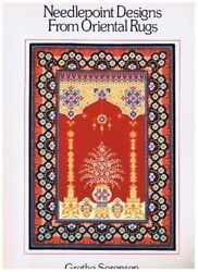 Needlepoint Designs From Oriental Rugs By Grethe Sorensen Mint Condition