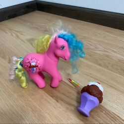 Vintage My Little Pony Soda Sippin Chocolate Delight G1 Pink Horse W/ Accessory