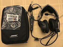 Bose A20 Aviation Headset With Dual Cable Bluetooth Plus Case