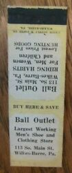 Clothing Store Ball Outlet Men's Clothes Wilkes-barre Pennsylvania 1930s -g