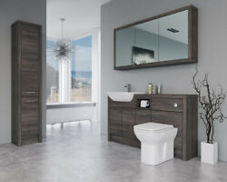 Bathroom Fitted Furniture 1500mm Mali Wenge D1 With Wall And Tall Unit - Bathcabz