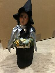 Byers Choice Witch With Silver Cape