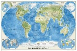 World Physical [enlarged And Laminated] National By National Geographic Maps