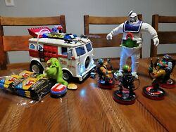Custom Tmnt Ghostbusters Party Wagon, Stay Puft Android Krang, 4 Turtles +🔥🔥🔥