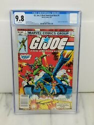 G.i. Joe 1 A Real American Hero Cgc 9.8 White Pages Newsstand Marvel 1982