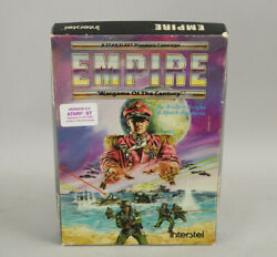 Empire Wargame Of The Century Atari St Complete In Box W/disk, Manual And Map