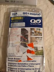 Square D Qo120gfic 20 Amp Ground Fault Circuit Interrupters Single Pole. New A