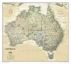 Australia Executive [laminated] National Geographic By National Geographic Maps