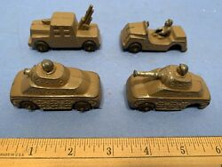 Five Vintage 1940s/1950s Barclay Manoil Cast Military Vehicles