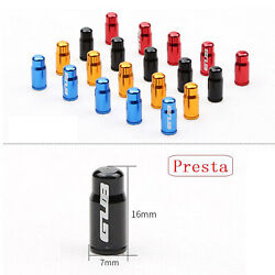 Pair Aluminum Alloy Bicycle Tire Valve For Presta French/ Schrader American