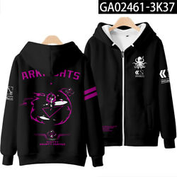 Game Arknights Cosplay Coats Zipper Casual Hoodie Long Sleeve Menand039s Sweater 031