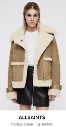 All Saints Farley Shearling Jacket Coat Bnwt Size Small Sold Out Bloggers Fav