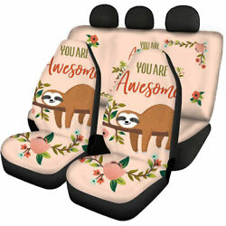 Sloth Cute Car Seat Covers For Women Gifts Automotive Accessories Universal Fit