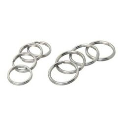 Stainless Steel Key Rings Chrome Look 16x1.3mm X10 Pcs