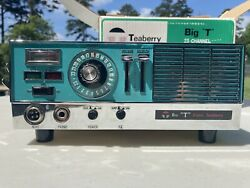 """Teaberry Big """"t"""" Basestation/mobile Receiver 23-channel Cb Radio W/antenna"""