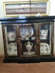 Herend Queen Victoria As Shown In Photo With Cabinet As A Lot.
